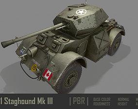T17E1 Staghound Mk3 Armoured Car PBR 3D model