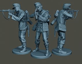 3D printable model German soldier ww2 Shoot Stand G3