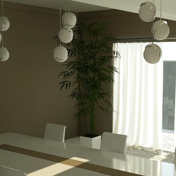 Interior dinner table