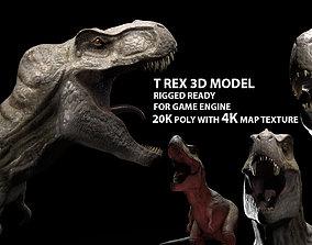 rigged Trex dinosaur game model Tyrannosaurus