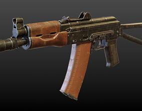 AKS-74U Submachine Gun 3D asset