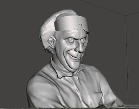 3D print model Doc Emmett Brown full bust