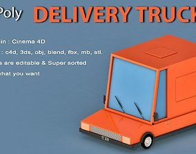 3D model Cartoon Delivery Truck