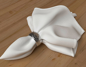 3D Classical napkin with right