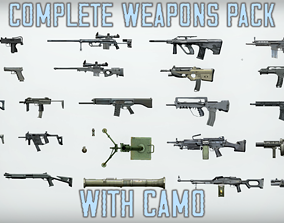 Complete Weapons Pack with Camo 3D asset