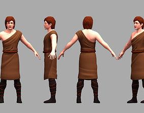 Adam character 3D model man