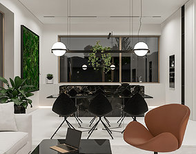 Modern Contemporary Light Interior Design 3D