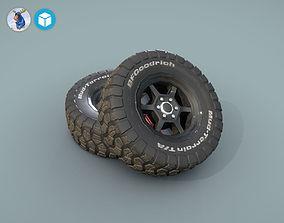 3D asset BFGoodrich wheels for car