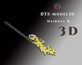 low-poly DTS - Model3D - Hair Acc B