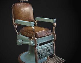 Barber chair 3D asset PBR