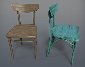Wooden Chair Banana 3D model