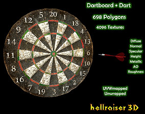 Dartboard- PBR - Textured Includes 2 Objects 3D asset
