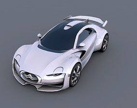 Citroen Survolt 3D model game-ready