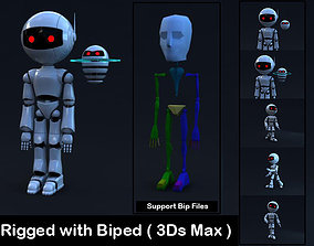 Robot Rigged with Biped 3D model