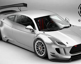 3D model Generic Sports Car GT3