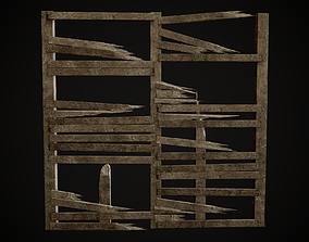 Wooden Planks and Beams Gameready Lowpoly set 3D model