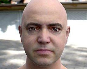 game-ready 3d model human head 2