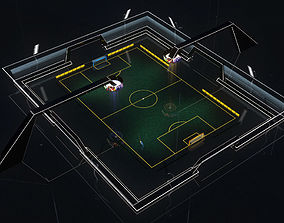 Stadium Soccer Glow 3d model