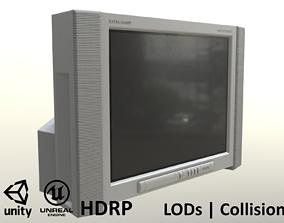 3D model 2000s CRT TV Gray