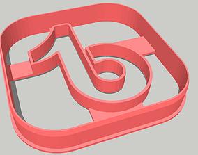 Tiktok - Cookie Cutter 3D print model