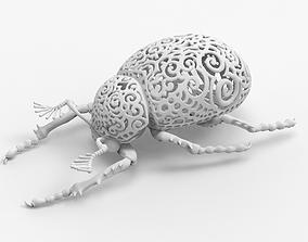 3D print model Scarabaeus dung beetle bug insect scarab