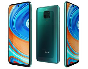 Xiaomi Redmi Note 9 Pro Tropical Green 3D model
