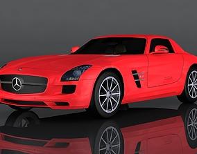 Mercedes-Benz SLS AMG 3D model low-poly