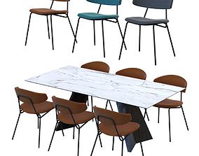 3D Table ICARO Chair SOPHIA CALLIGARIS