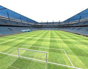 3D asset low-poly Football Stadium