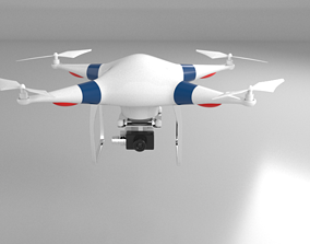 3D model rigged VR / AR ready Drone