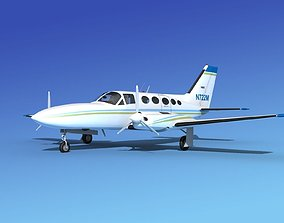 Cessna 414A Chancellor V07 3D model