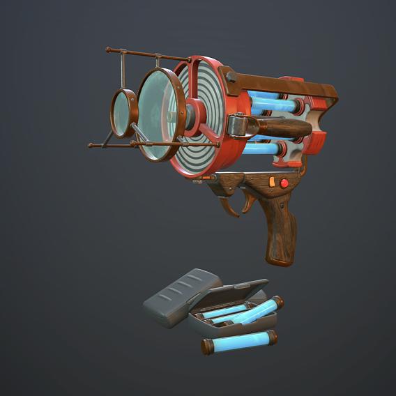 Retro laser pistol