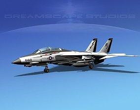 Grumman F-14D Tomcat T01a VF100 3D