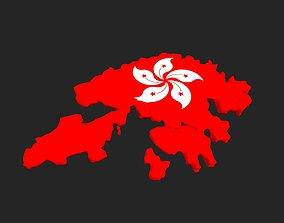low-poly Hong Kong Map Low Poly 3D model