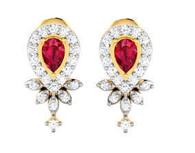 Women earrings 3dm render detail hoop