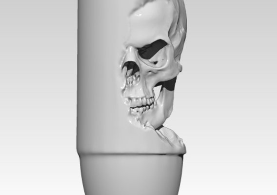 Bullet pendant with skull. High detailed [ 3d printable ]