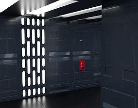 SciFi Wall Panels - 19 Parts - Walls and Details 3D asset