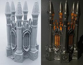 3D print model GOTHIC TEA LIGHT LANTERN 1