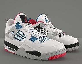 3D model Air Jordan 4 Retro What The PBR