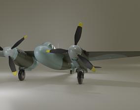DeHavilland Mosquito Second World War Aircraft 3D model