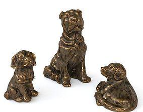 3D 3 Dogs statuette