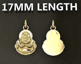 Happy Buddha Pendant 17mm Length Mid 3D printable model