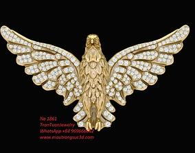 1861 Diamond Eagle Pendant 3D print model