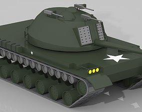 3D asset realtime Cartoon Tank