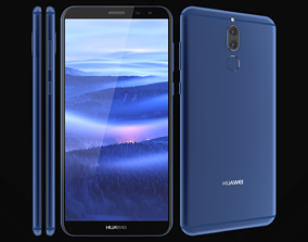 Huawei Mate 10 Lite Blue 3D model