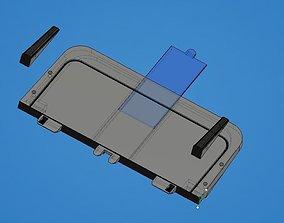 HP2600 HP 2600n rear tray 3D print model