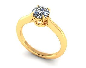 3D print model Solitaire Ring R006