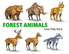 Forest Animals Pack 3D model