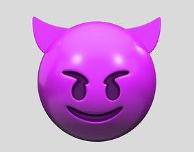 Emoji Smiling Face with Horns 3D model