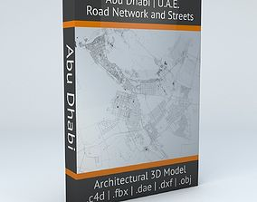 3D Abu Dhabi Road Network and Streets